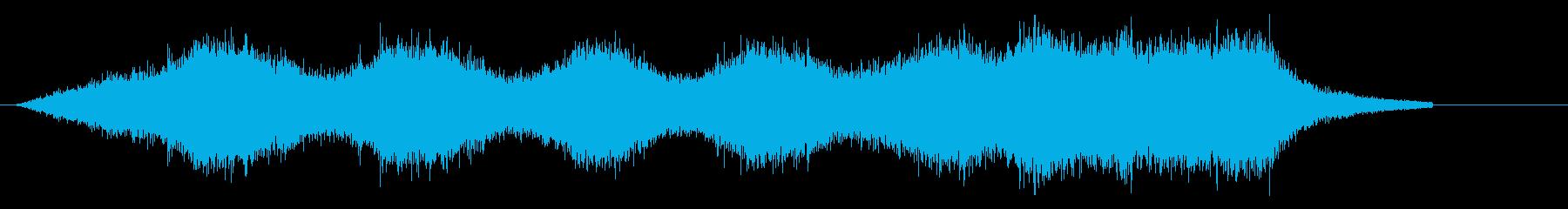 コードレス掃除機を使用する音の再生済みの波形