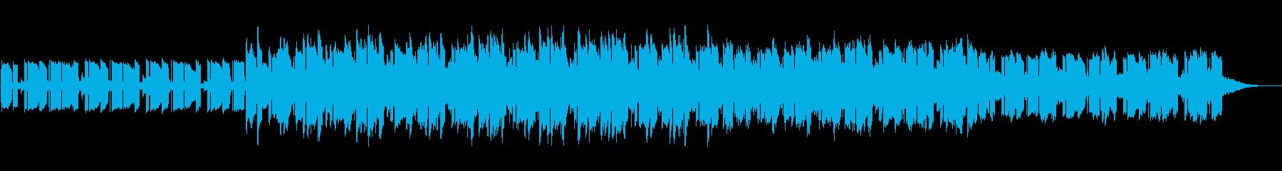 緩やかで淡々としたリズムのテクノポップの再生済みの波形