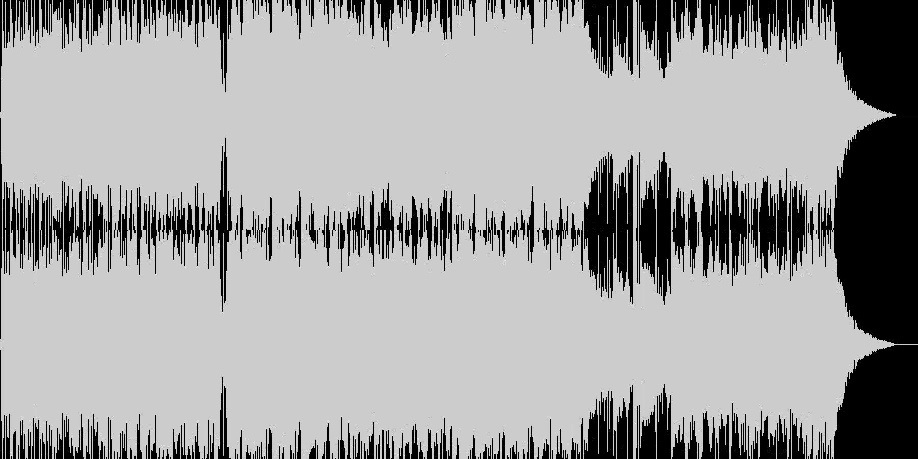 スタイリッシュな和風戦闘曲の未再生の波形