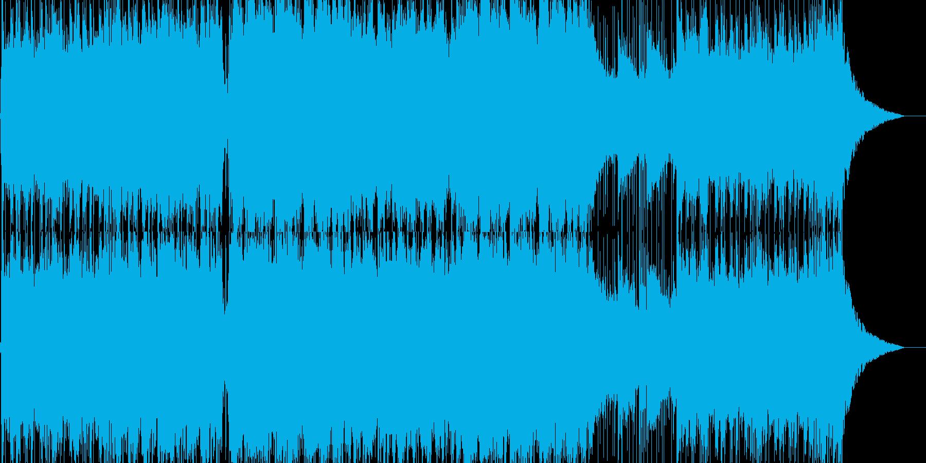 スタイリッシュな和風戦闘曲の再生済みの波形