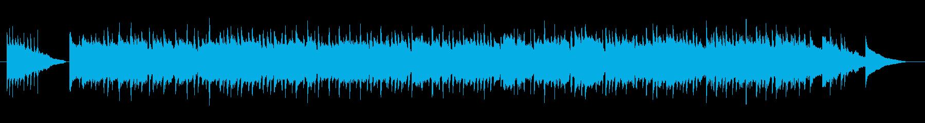 別れのピアノワルツ曲の再生済みの波形