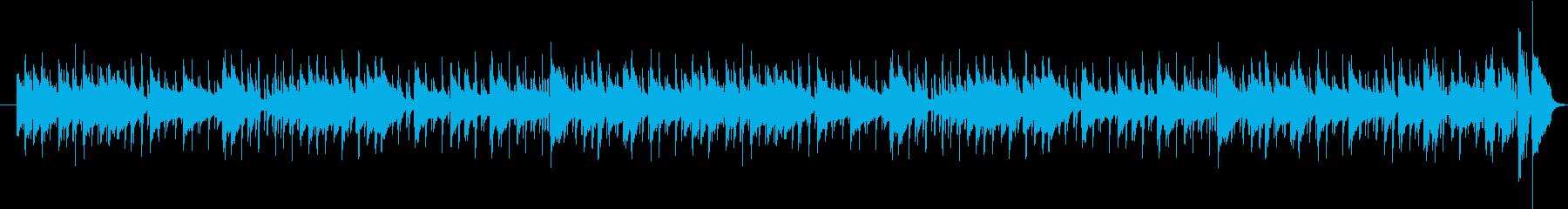 軽快でクラップ音が特徴的なジャズ曲の再生済みの波形