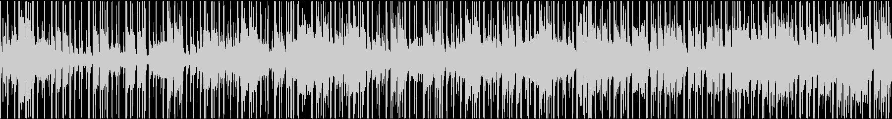 最先端と和テイストの融合したBGMの未再生の波形