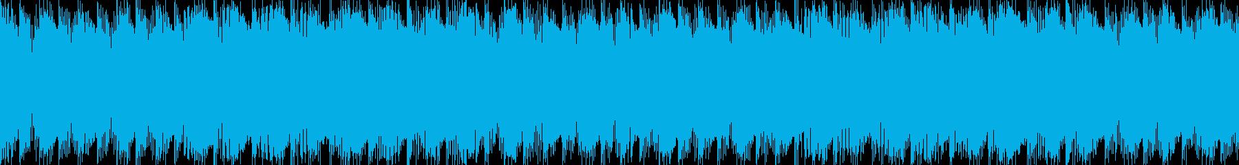 どこか懐かしい4ツ打ちリズムサウンドの再生済みの波形