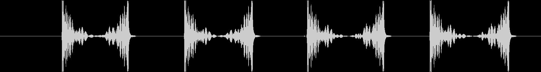 スクラッチ1slow(ズクズクズクズク)の未再生の波形