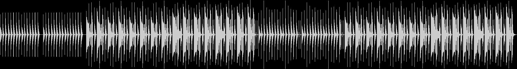 気の抜けたリコーダー曲【ループ】の未再生の波形