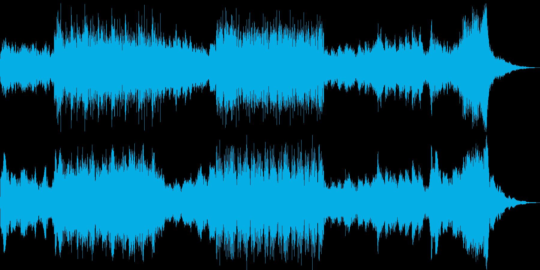 民族楽器とオーケストラのサウンドの再生済みの波形