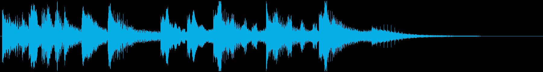 カートゥーンのようなコミカルなジングルの再生済みの波形