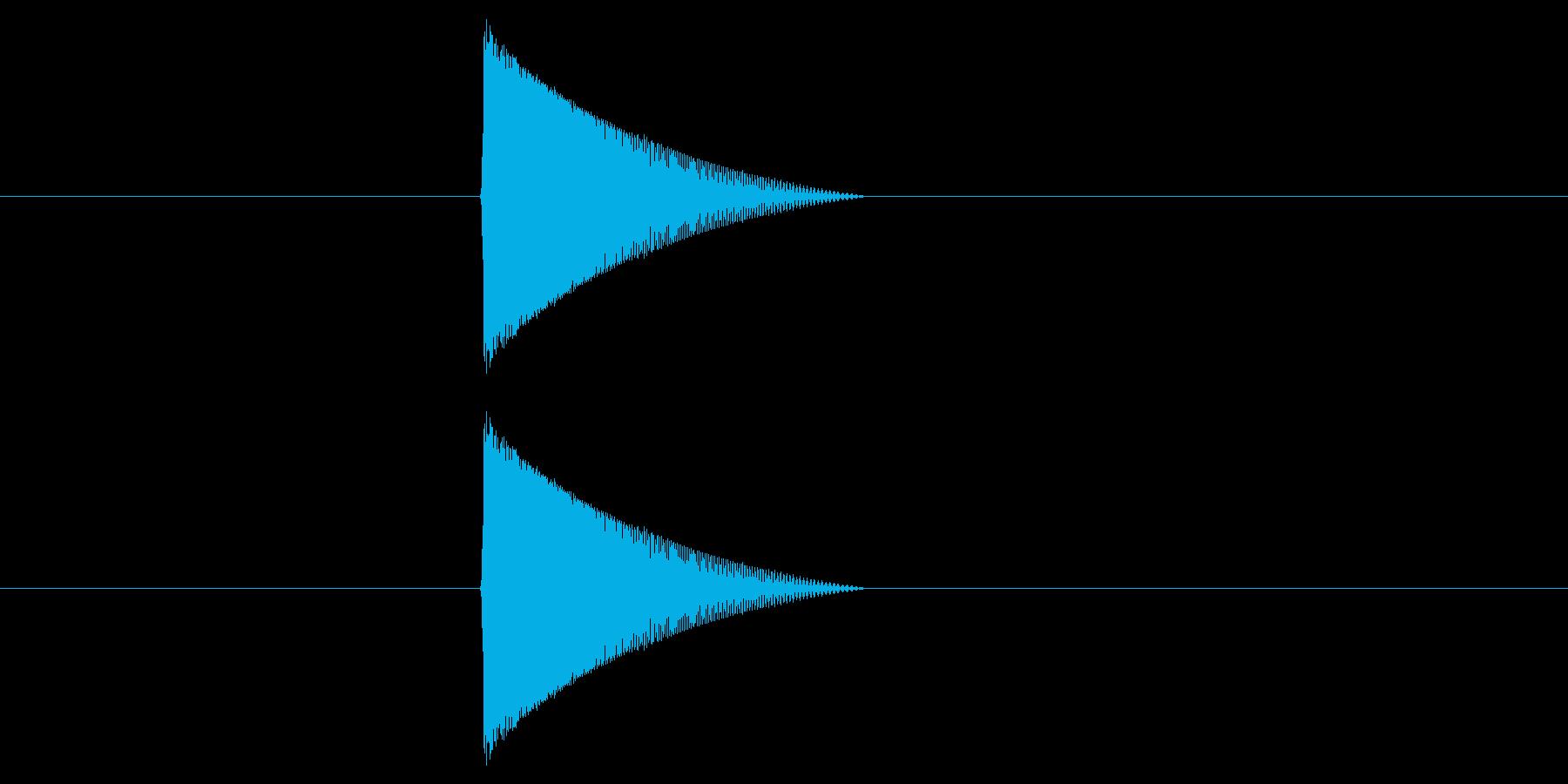 ファミコン風_ピュン_弾を打つ音5の再生済みの波形