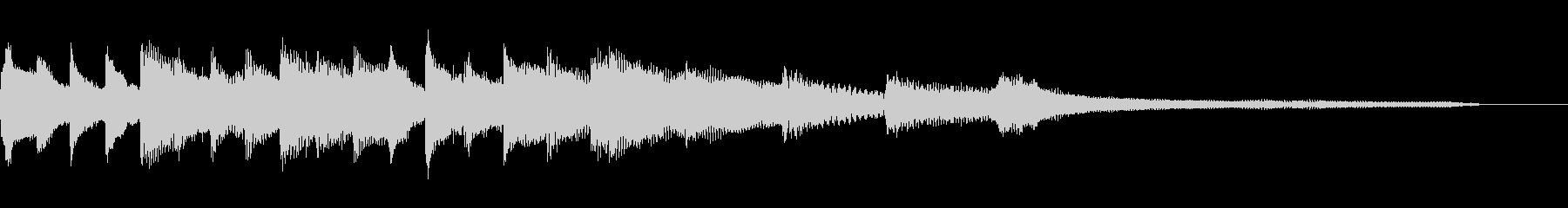 優しい柔らかいピアノのジングルの未再生の波形