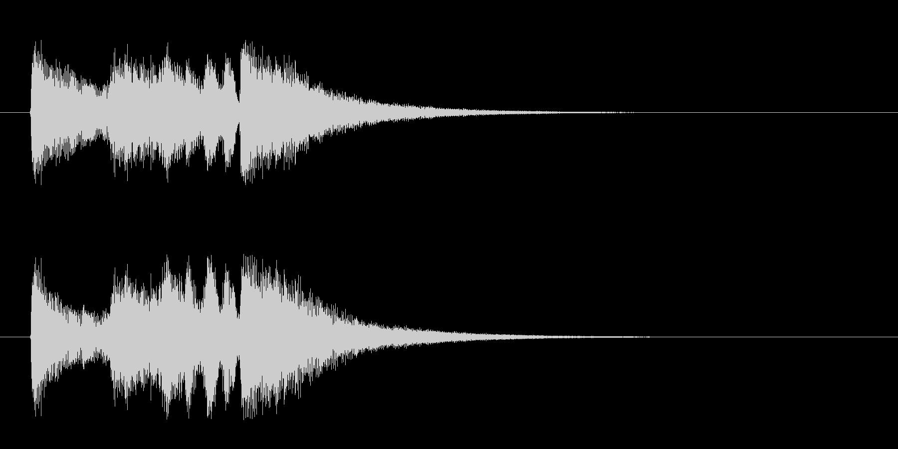 ジングル(ナイト・タイム・ジャズ風)の未再生の波形