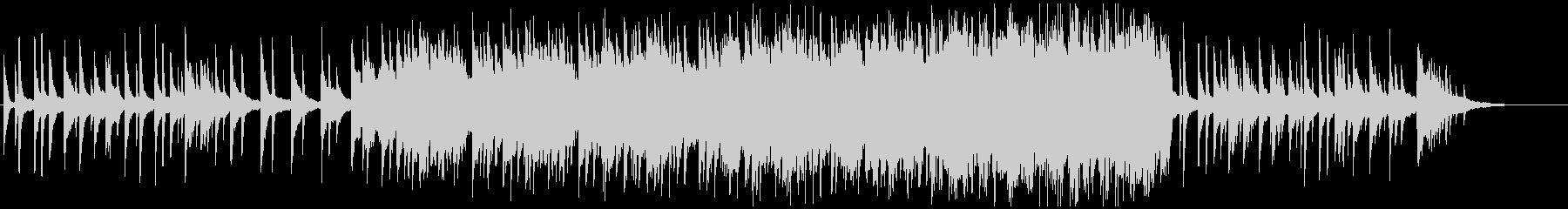 ピアノの旋律が印象に残るバラードの未再生の波形