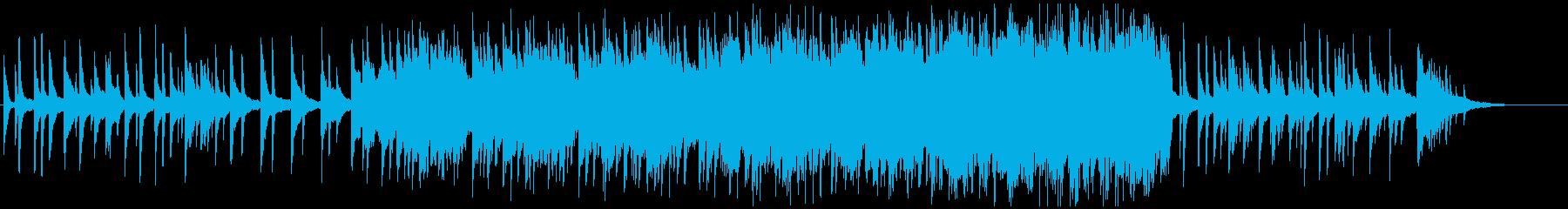 ピアノの旋律が印象に残るバラードの再生済みの波形
