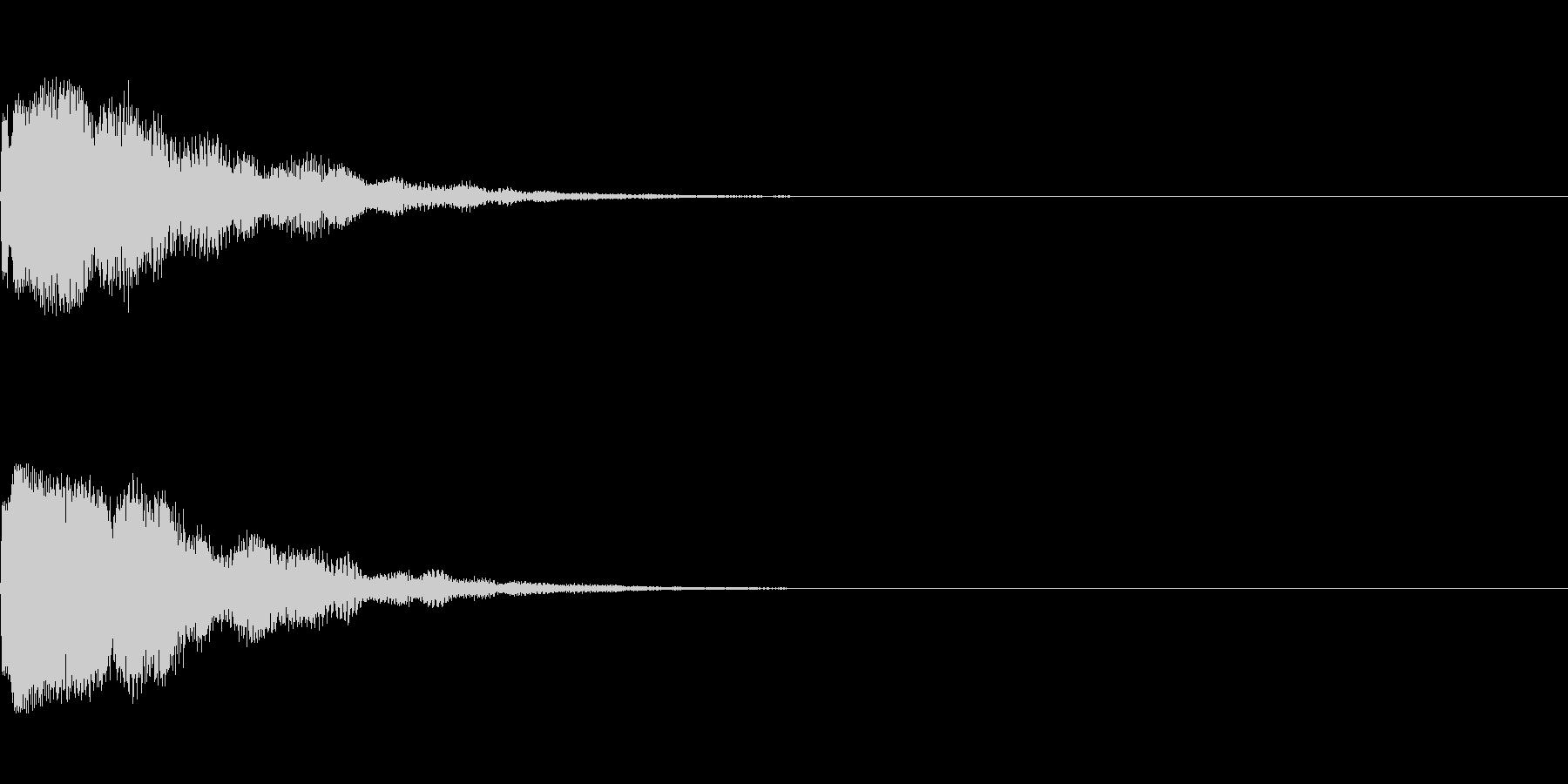 きれい系システム音/チラリン ベルっぽいの未再生の波形