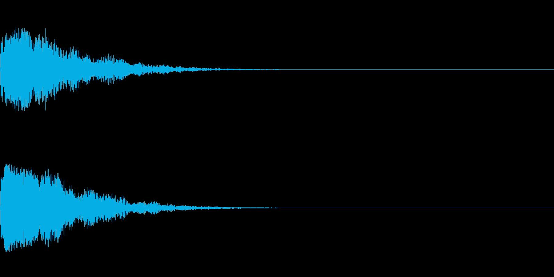 きれい系システム音/チラリン ベルっぽいの再生済みの波形