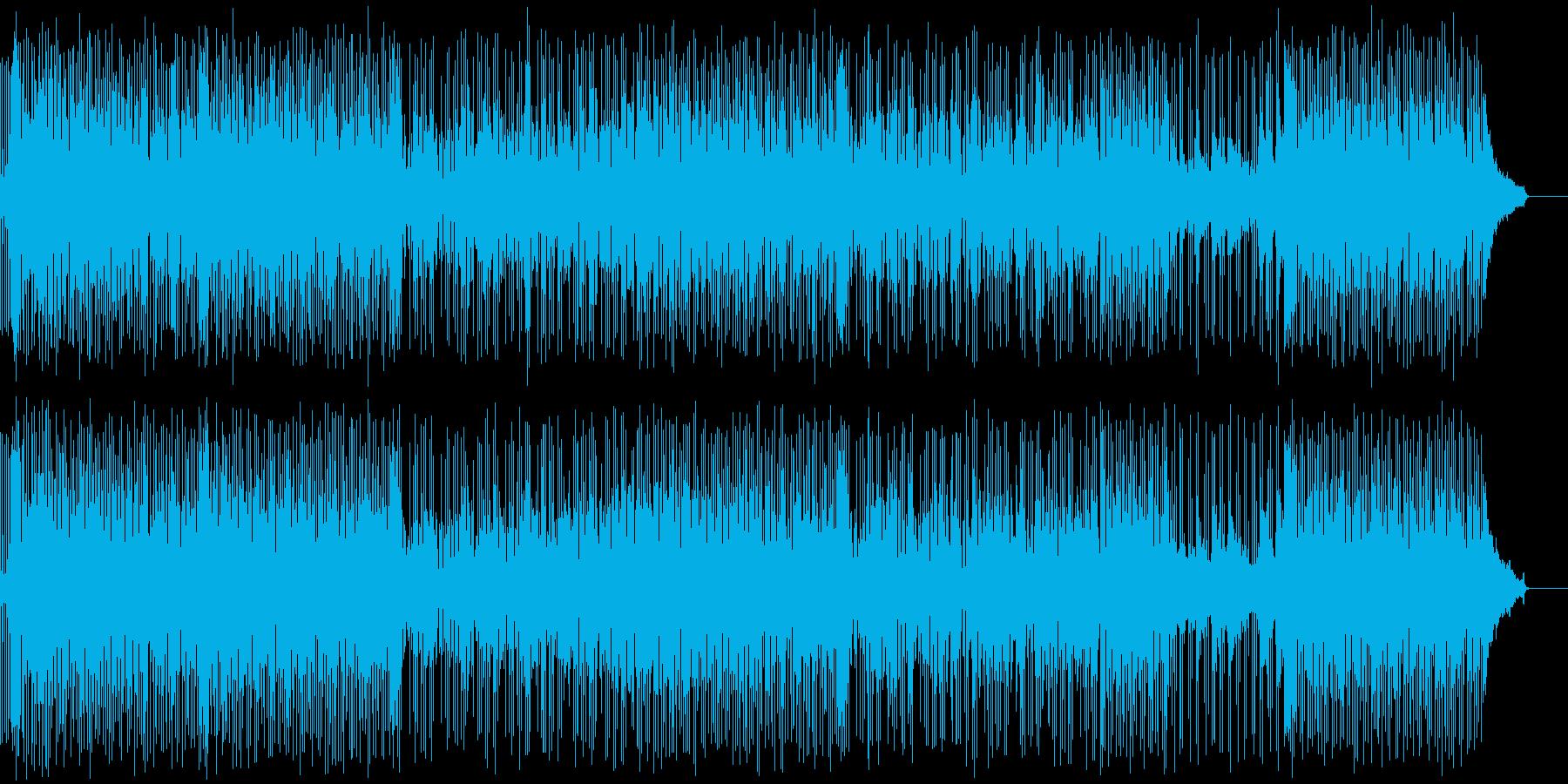 さわやかなオープニング曲の再生済みの波形