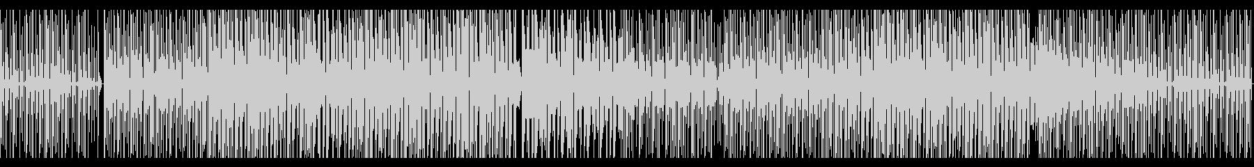 ビート強めなBGMの未再生の波形