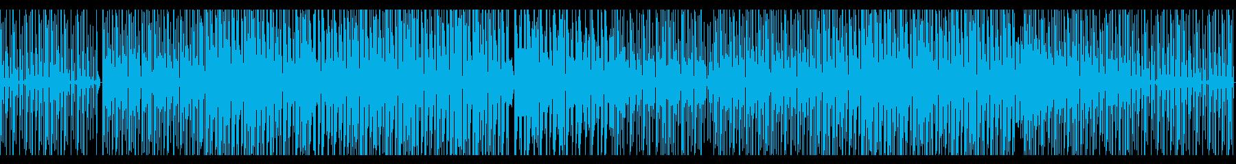 ビート強めなBGMの再生済みの波形