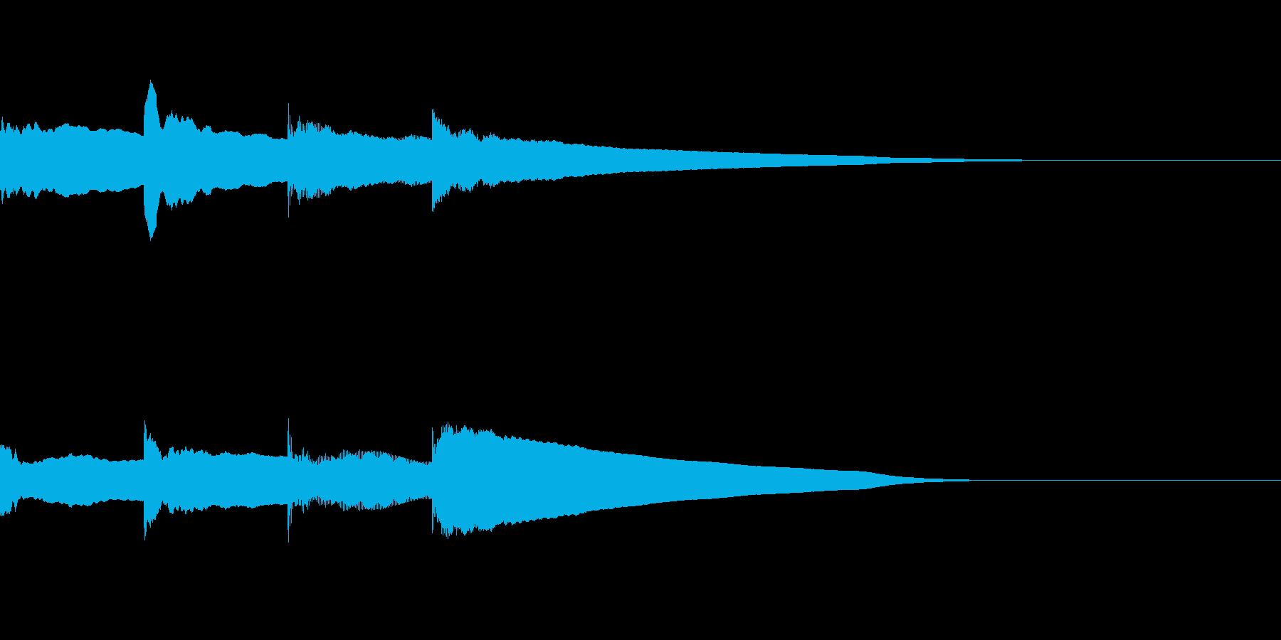 学校風チャイム「キンコンカンコーン」の再生済みの波形