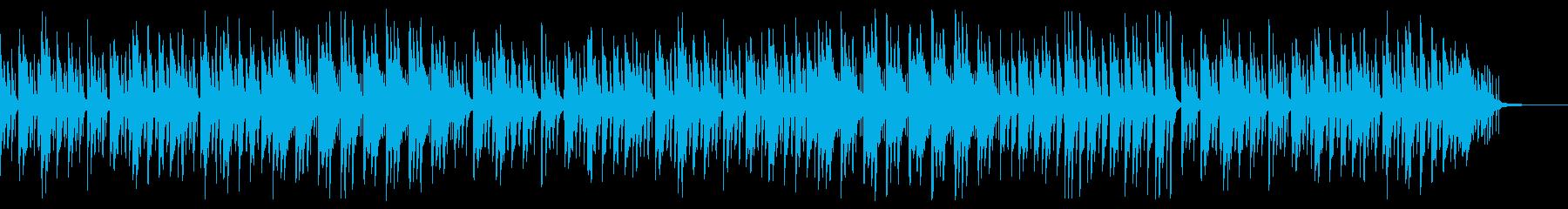森や動物をイメージした軽やかで優しい曲の再生済みの波形