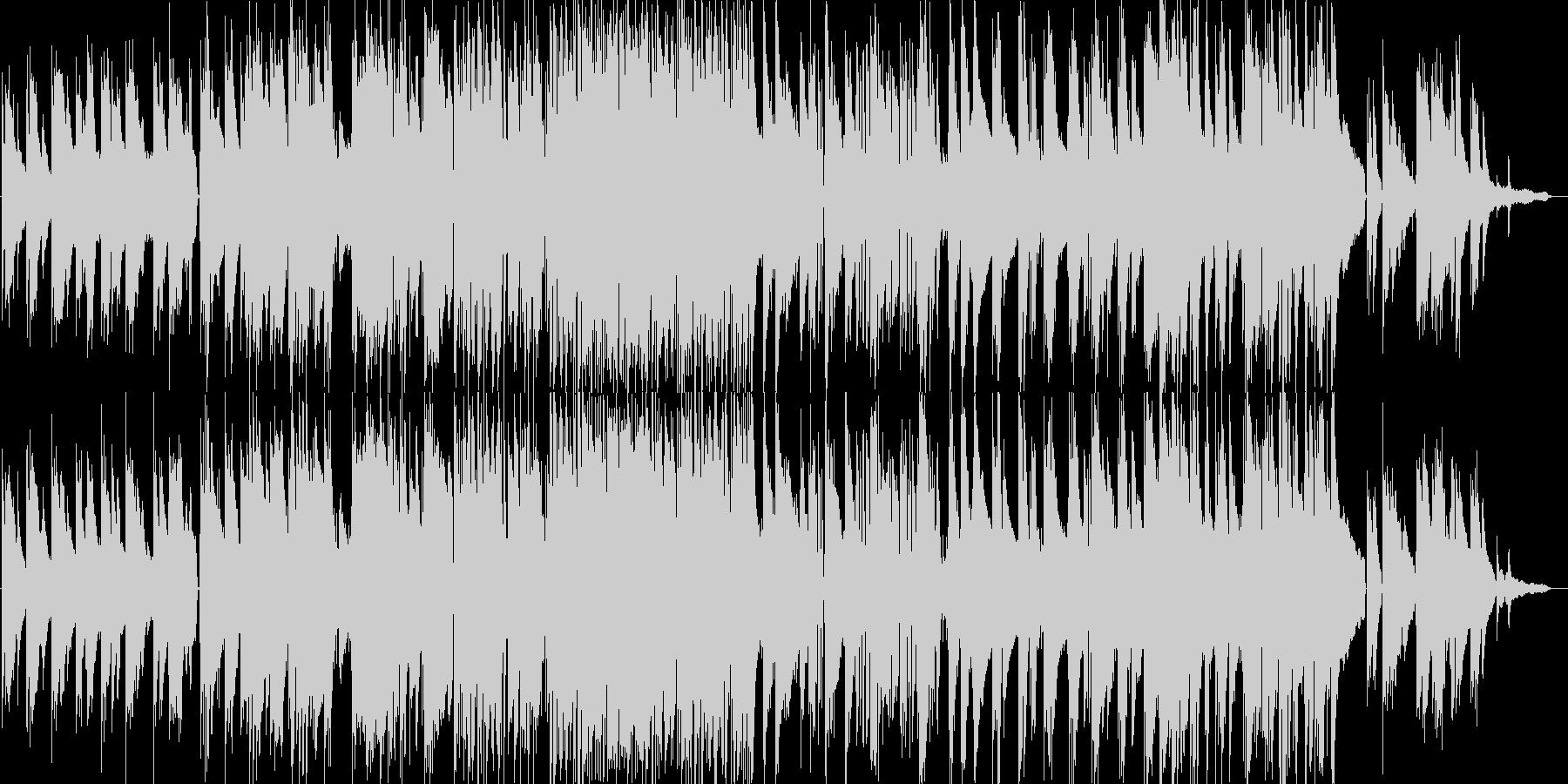 しっとりとしたピアノトリオのバラードの未再生の波形