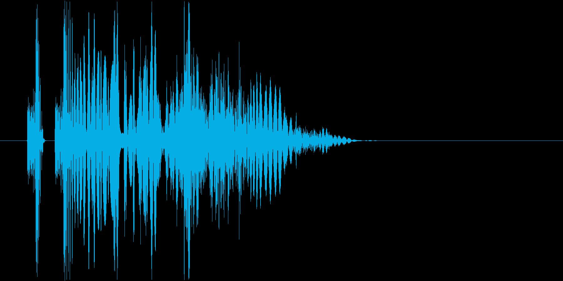 ヒット音。デュクシ、グシャの再生済みの波形
