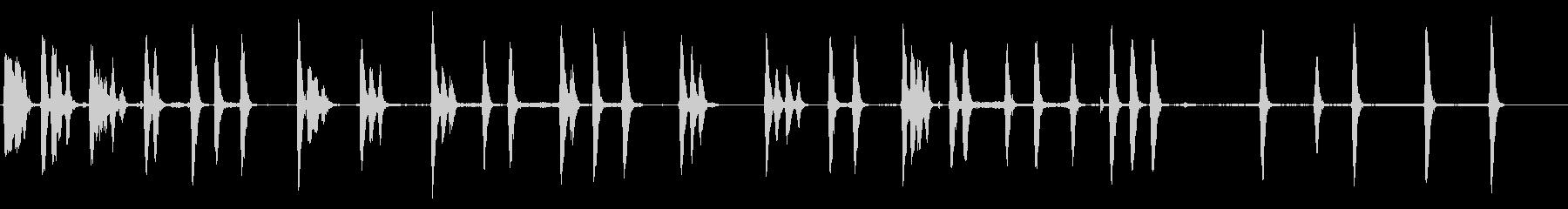 小型犬、シャープバーク犬の未再生の波形