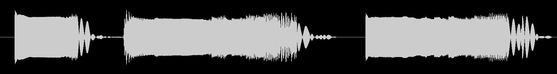 ビープ信号干渉2の未再生の波形