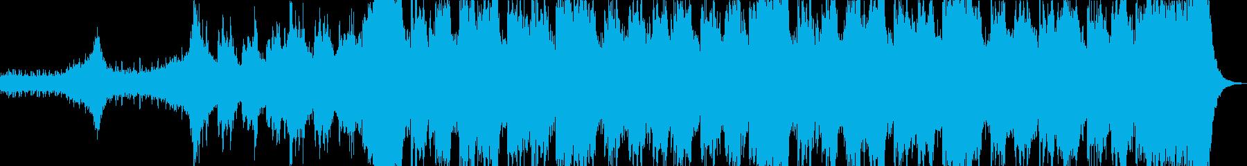 明るくインパクトある壮大なオーケストラの再生済みの波形