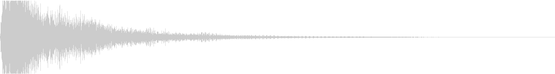 ファ単音のオーケストラルヒットの未再生の波形
