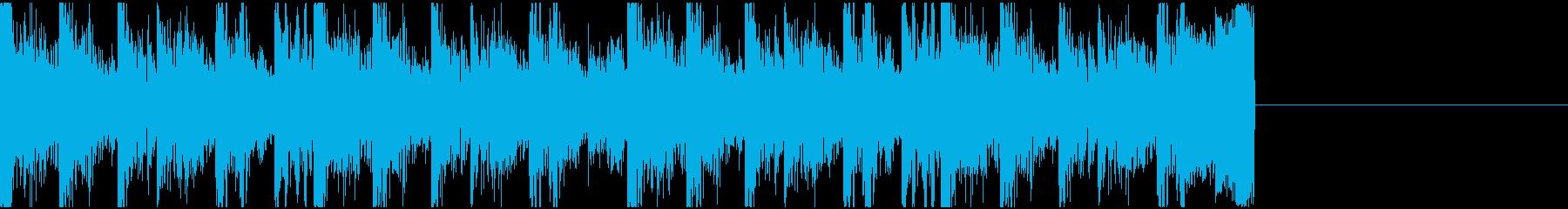 【JG】緊迫感のあるジングル03の再生済みの波形