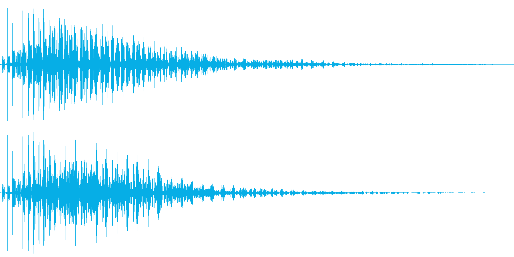 Bass ブリッと重厚な決定音 残響付きの再生済みの波形