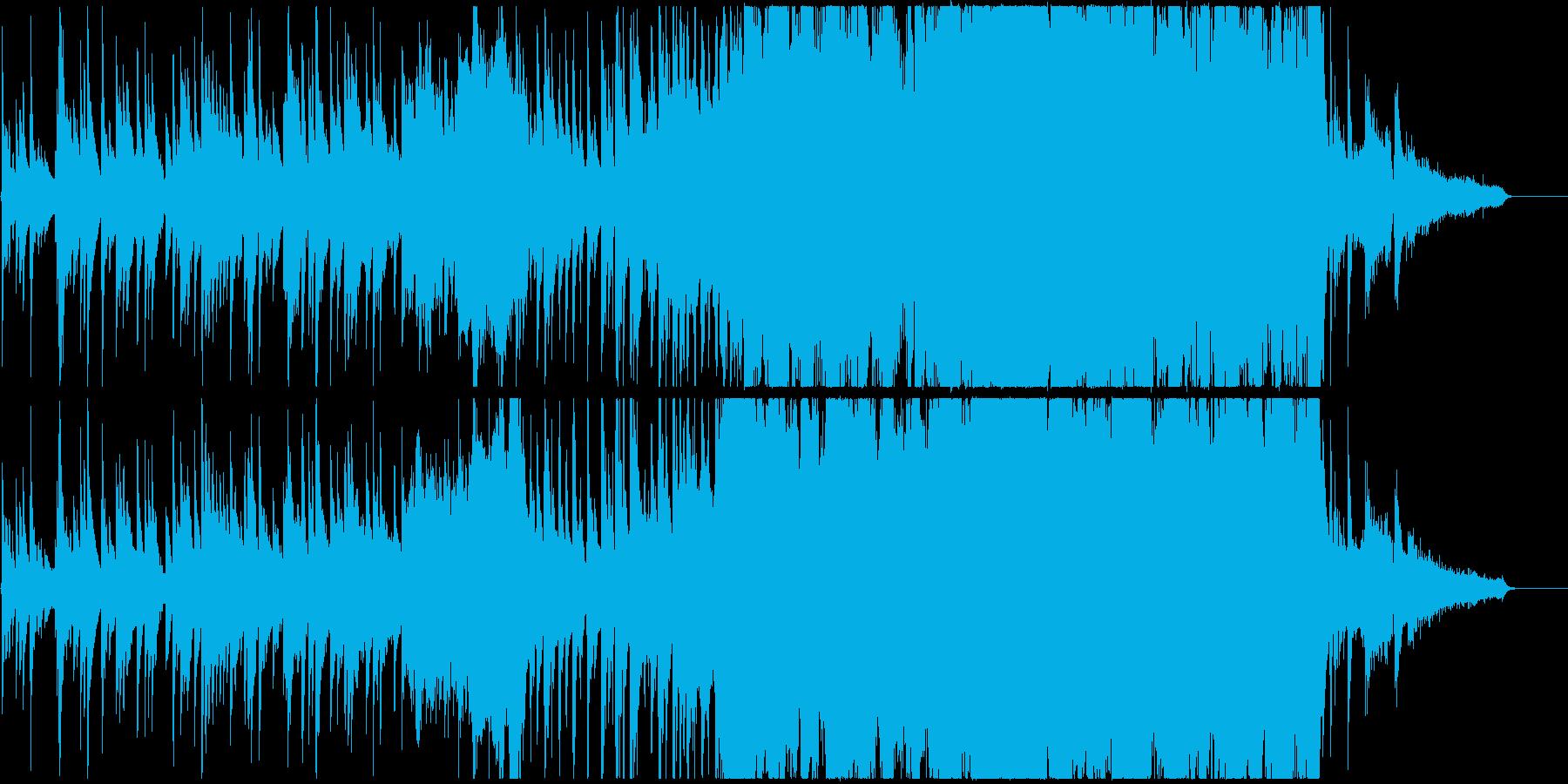 琴を中心としたドラマティックな和装の曲の再生済みの波形