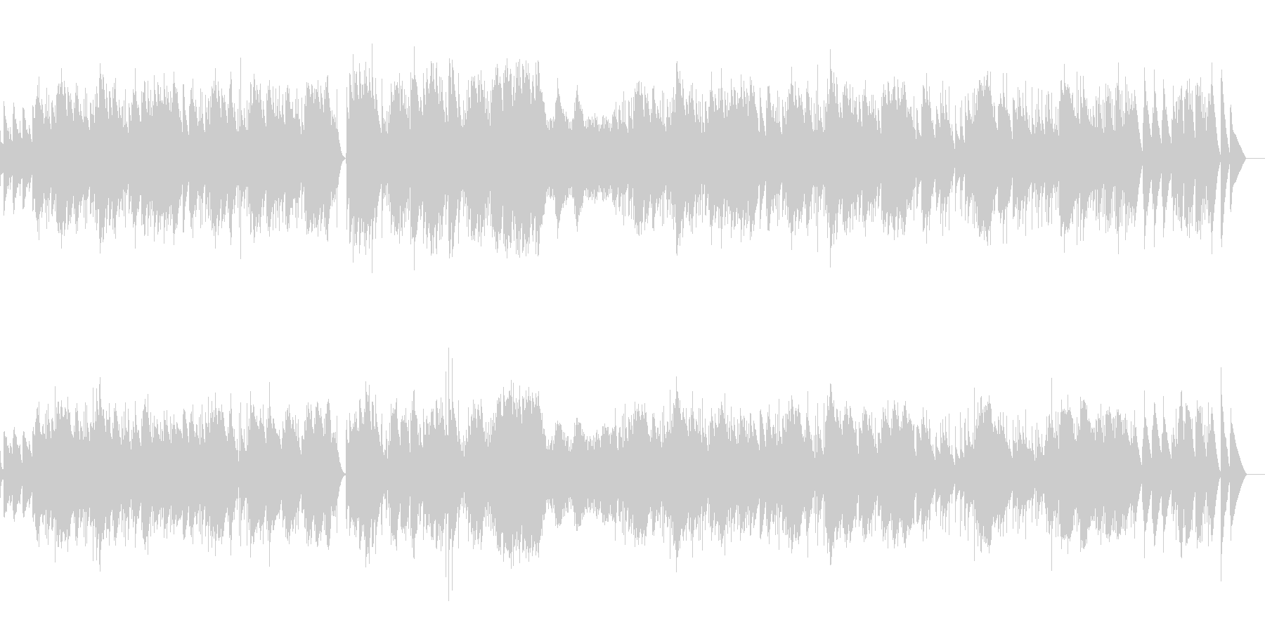 コッペリア ワルツ(オルゴール)の未再生の波形