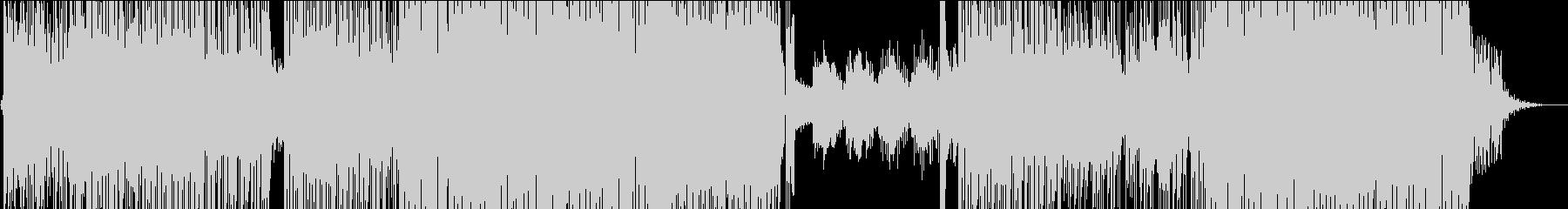 昭和歌謡の香りがするほのぼのEDMの未再生の波形