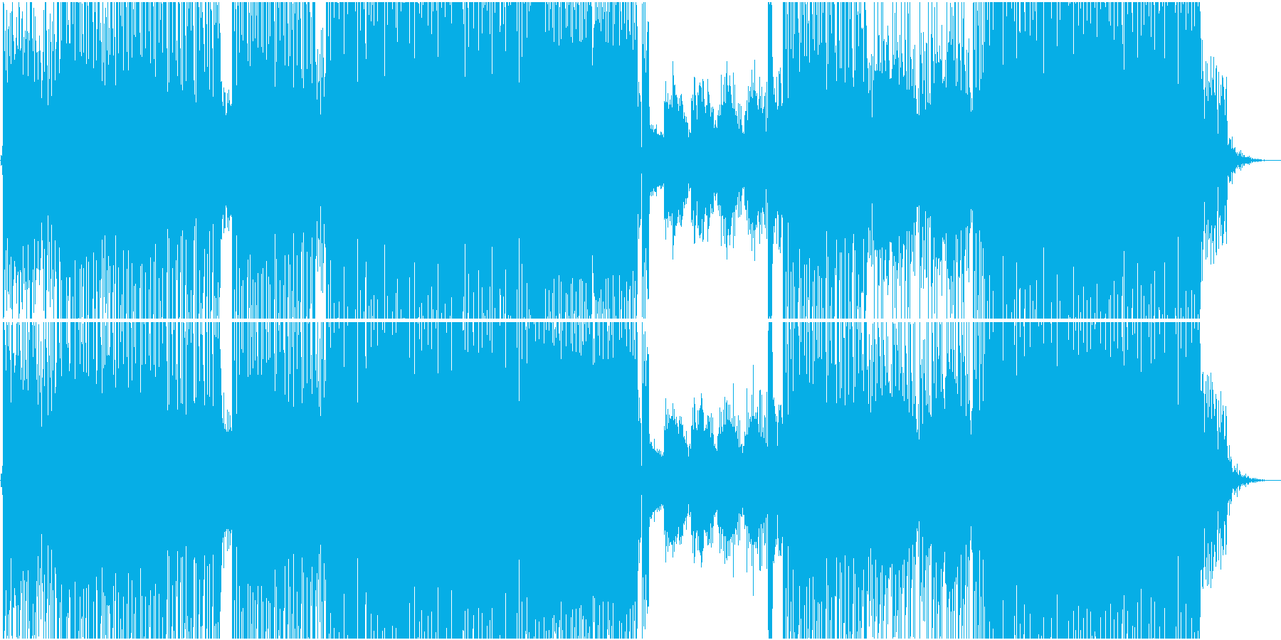 昭和歌謡の香りがするほのぼのEDMの再生済みの波形