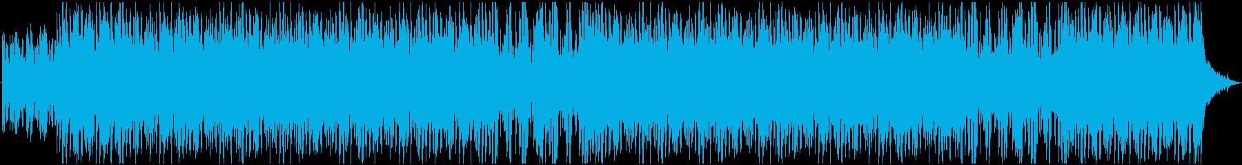 ピアノとギター夜っぽい高級感溢れるBGMの再生済みの波形