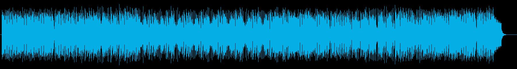 音階を回るように上がっていくシンセ曲の再生済みの波形
