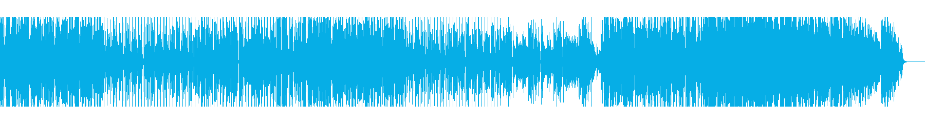 1970年代スペーシーなファンク風BGMの再生済みの波形