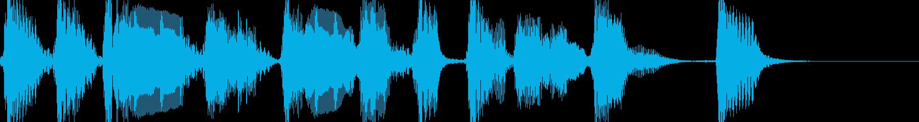 アコギと声 怪しげなメロディー ジングルの再生済みの波形