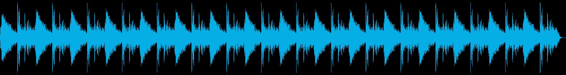 ドン、バーン(爆発)のループの再生済みの波形