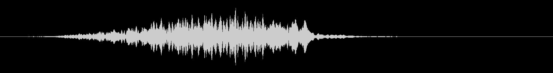 高速パルスビルドアップバズトーンの未再生の波形