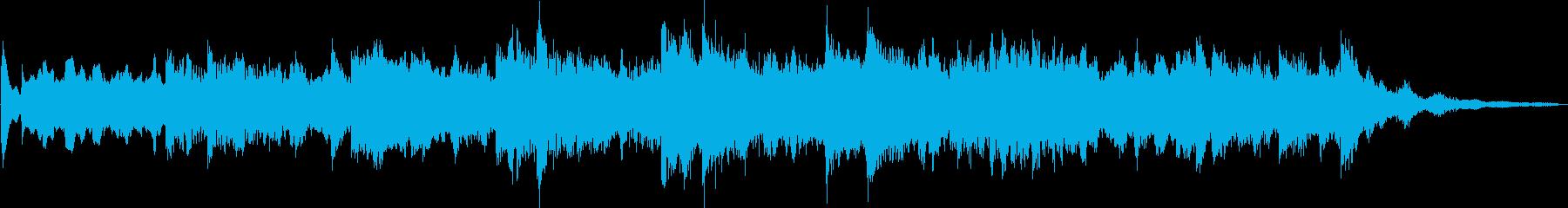 穏やかで温かいオルゴール風ジングルの再生済みの波形