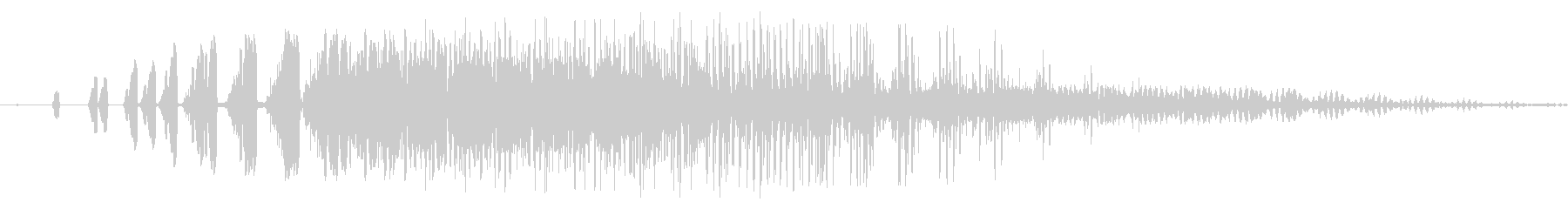 ファミコン風_ 魔法音1の未再生の波形