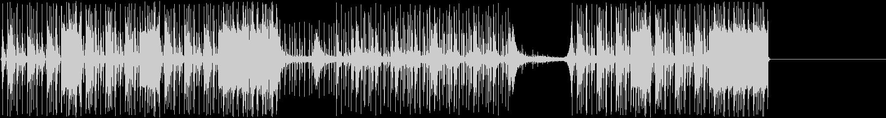 鼓動するエレクトロニカのドラムとベ...の未再生の波形