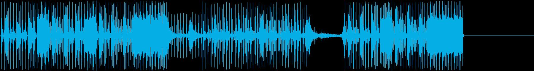 鼓動するエレクトロニカのドラムとベ...の再生済みの波形