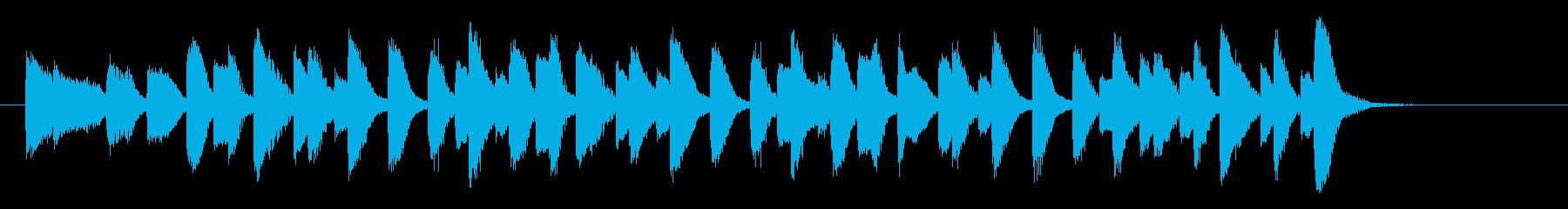 ラグタイムピアノ_オリジナルピアノ曲の再生済みの波形