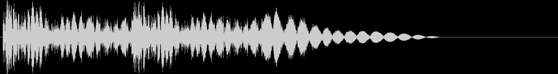 ビシビシッ(2連続パンチ・攻撃)の未再生の波形