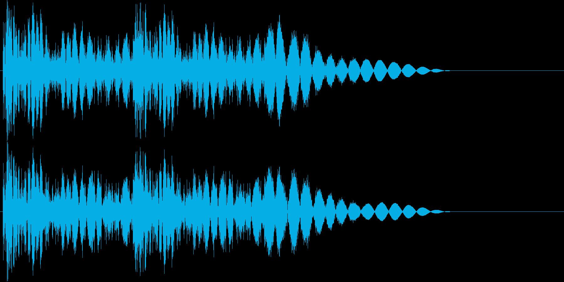 ビシビシッ(2連続パンチ・攻撃)の再生済みの波形
