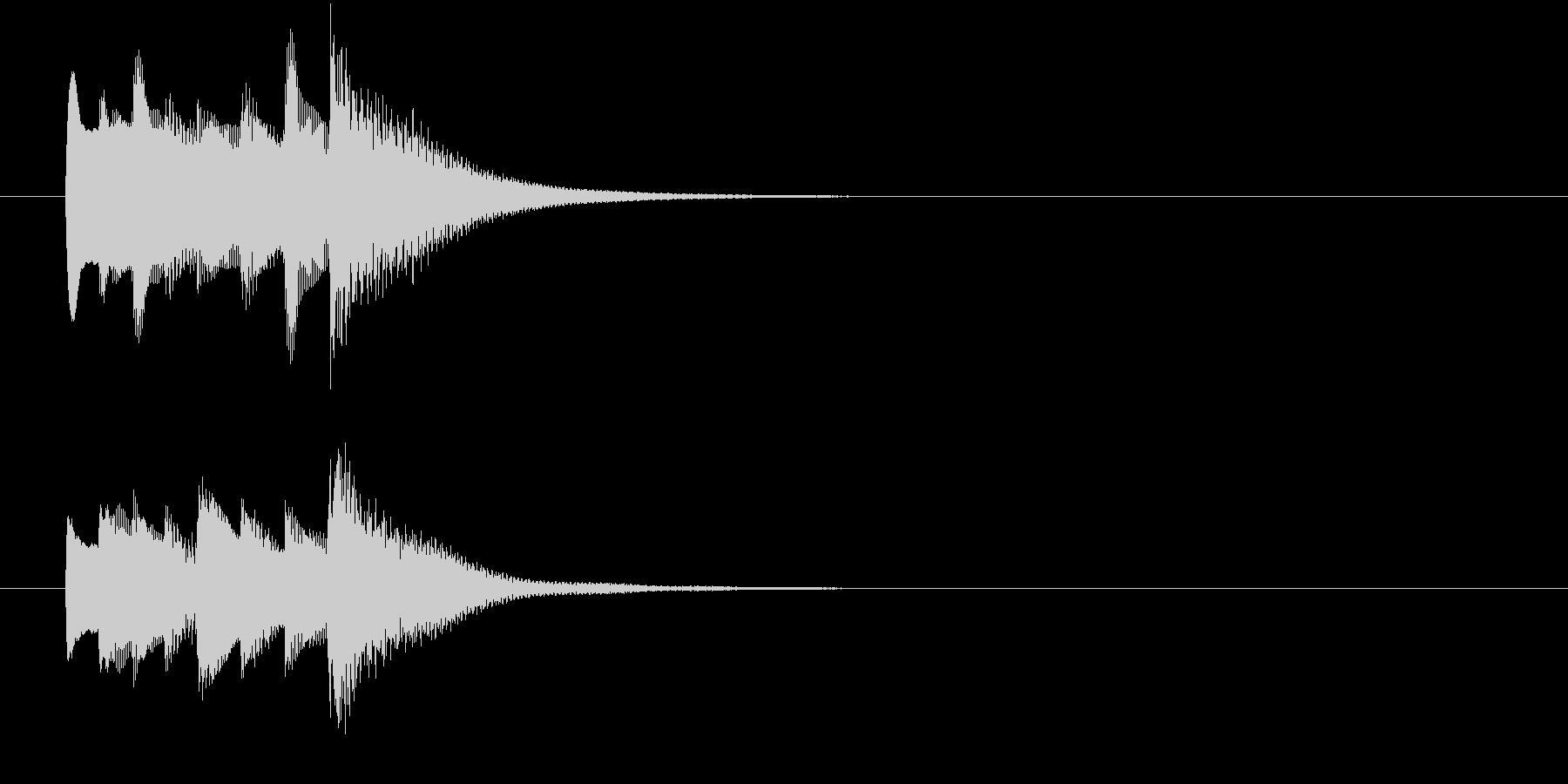 ポロンとしたセーブ音の未再生の波形